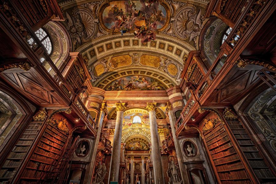 Австрийская национальная библиотека в Вене